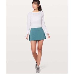 Lululemon play off the pleats skirt blue teal